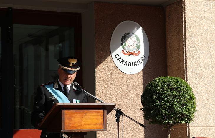 La cerimonia alla caserma di Aosta.