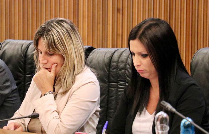 Consiglio regionale 26 giugno 2018 - Chantal Certan e Emily Rini