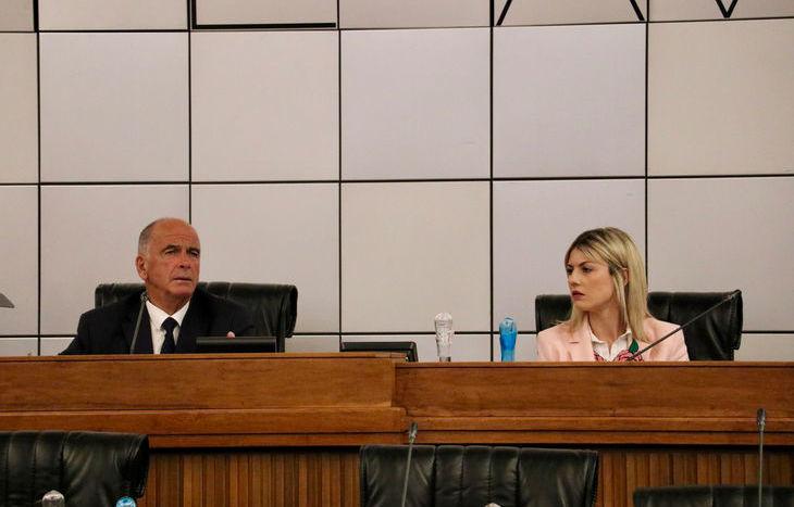 Consiglio regionale 26 giugno 2018 - Augusto Rollandin e Manuela Nasso