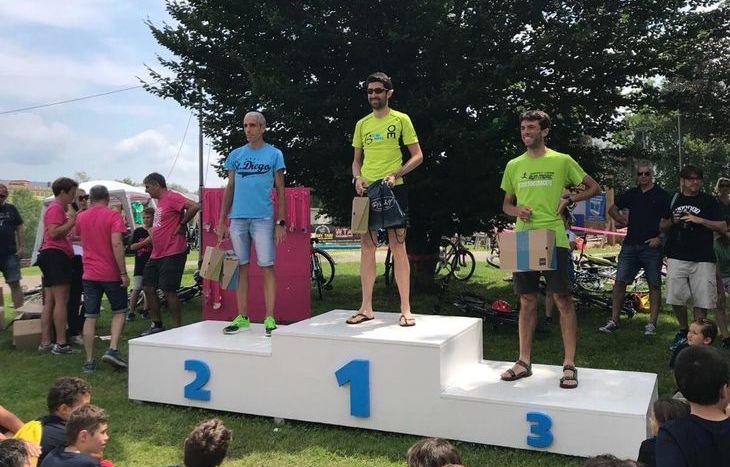 Mikael Mongiovetto sul podio della Ivrea Active Run
