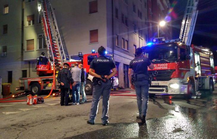 incendio Viale Partigiani