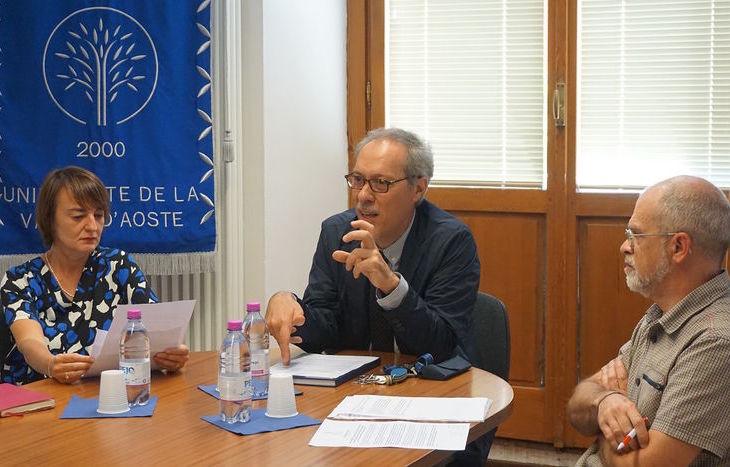 Da dx Gianmario Raimondi, Carlo Maria Bajetta e Francoise Rigat