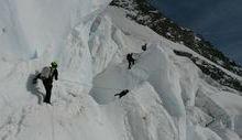 ricerca alpinisti dispersi - Foto dei tecnici del soccorso Federico Daricou e Marino Obert