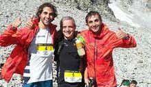 Martin Dematteis con Bruno Brunod e Bernard Dematteis
