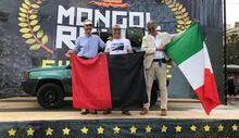 Paolo Peccoz al traguardo del Mongol Rally 2018