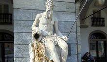 piazza Chanoux - statua - Buthier