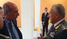 Il procuratore capo Fortuna e il comandante generale della GdF Toschi.