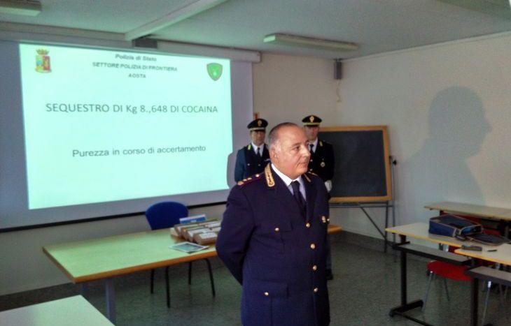 Il dirigente Alessandro Zanzi durante la conferenza stampa in Questura.