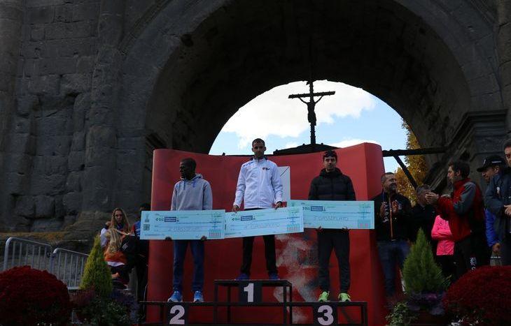 Il podio della MezzAosta maschile