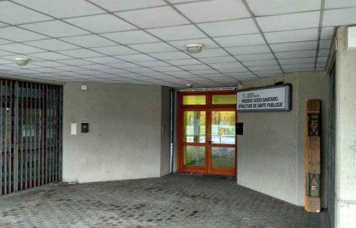 L'ambulatorio di Pont-Suaz in cui i migranti sono stati visitati.