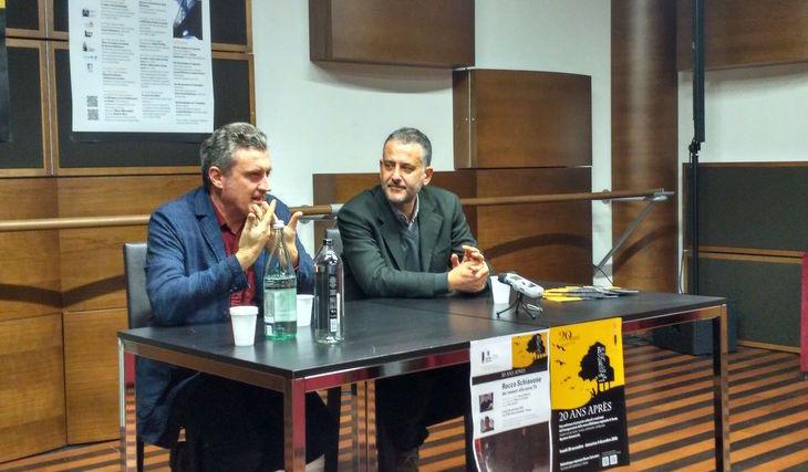 Antonio Manzini e Maurizio Careddu incontrano la stampa prima della serata