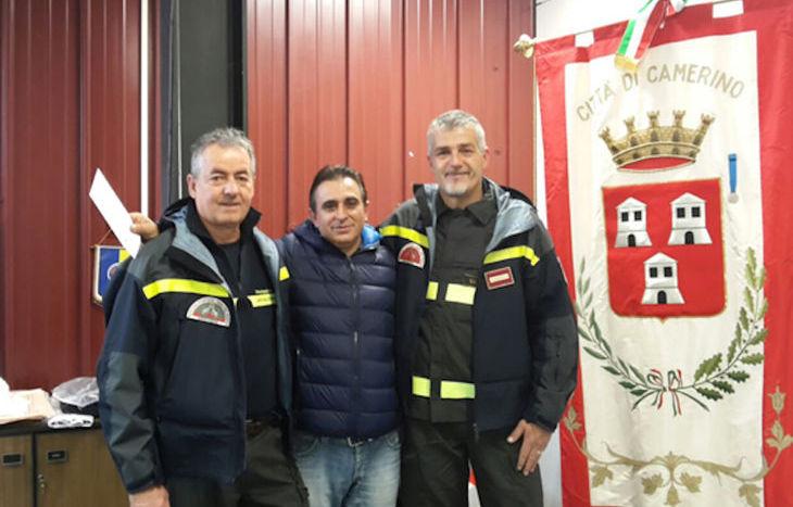donazione dei Vigili del fuoco al comune di Camerino