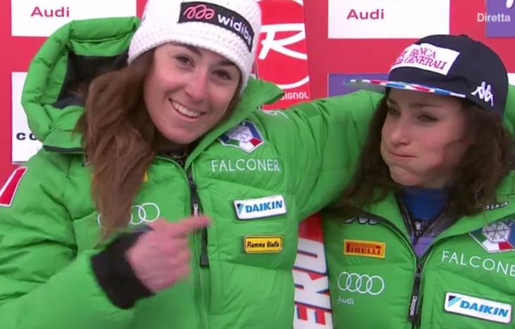 Sofia Goggia e Federica Brignone
