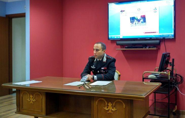 Il capitano D'Angelo, comandante della compagnia Carabinieri Aosta.