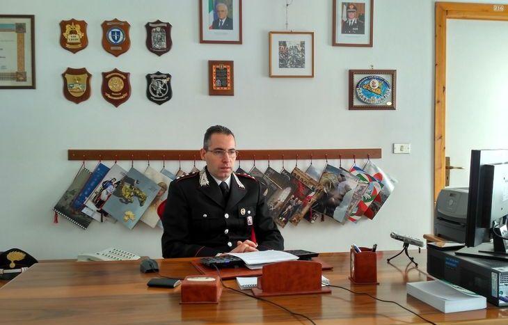Il tenente Carmelo Mossucca, comandante della Compagnia Carabinieri di Châtillon/Saint-Vincent.