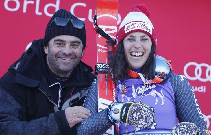 Federica Brignone e Alberto Tomba - Credit Pentaphoto
