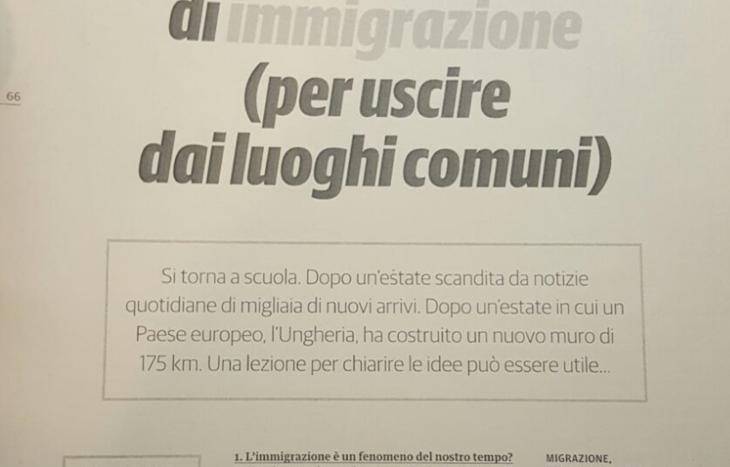 Il volume sull'immigrazione distribuito alla Cerlogne