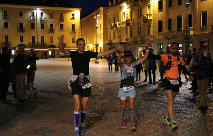 Marina Plavan con Gianpiero Bari e Mauro Coppa