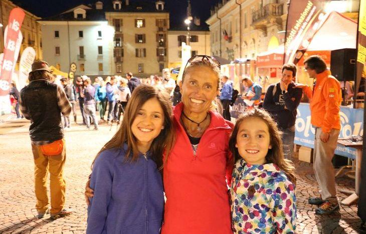 Simona Morbelli con le figlie