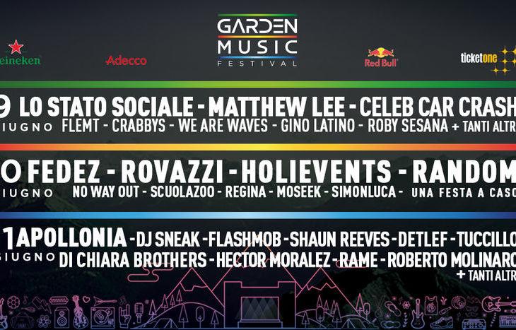 La locandina del Garden Music Festival