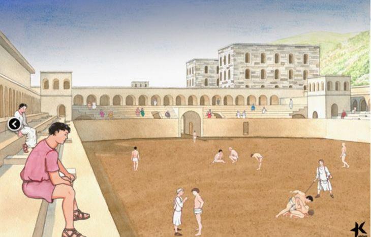 La ricostruzione dello stadio romano di Aosta