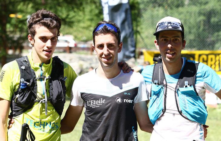 Il podio della 45 km del Gran Paradiso Trail