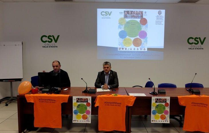 Claudio Latino e Luigi Bertschy alla presentazione degli eventi del Donoday2017