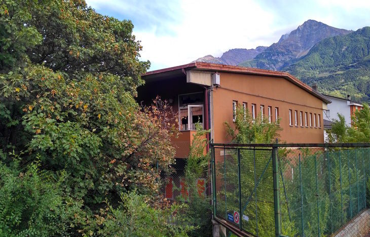 L'ex palestra di via Saint-Martin ad Aosta.