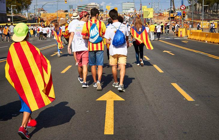Manifestanti Catalogna