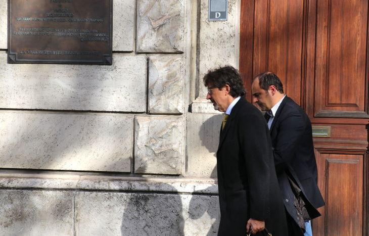 Gabriele Accornero con l'avvocato Corrado Bellora