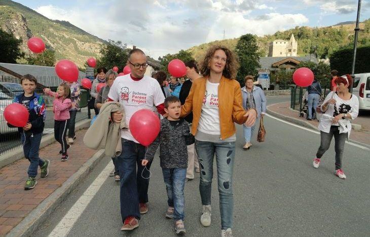 Oscar, Simone e Manuela durante la Petite Promenade du Ballon