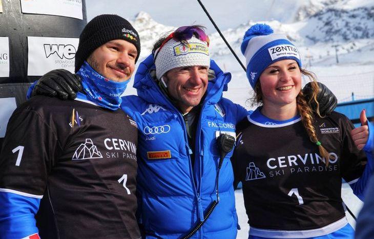 Michela Moioli, Omar Visintin e Cesare Pisoni - foto Evi Garbolino