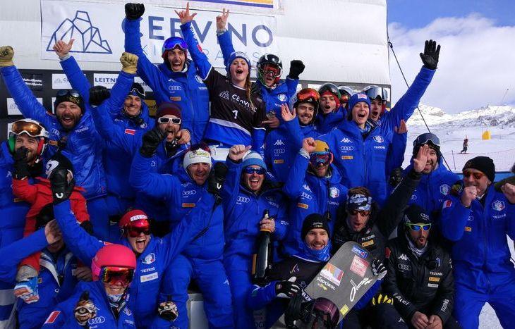 La nazionale azzurra di snowboard