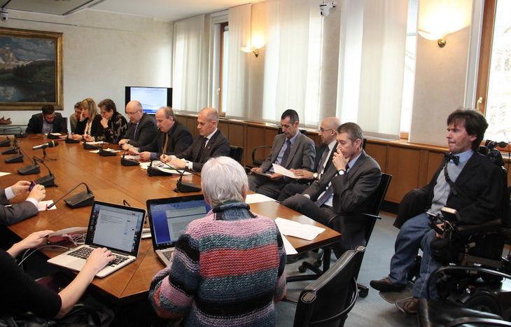 Conferenza stampa minoranza
