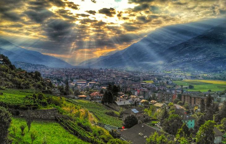 Aosta panorama e vista dall'alto