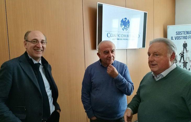 Nella foto da sx Fabio Alicata, Giuseppe Sagaria e Graziano Dominidiato
