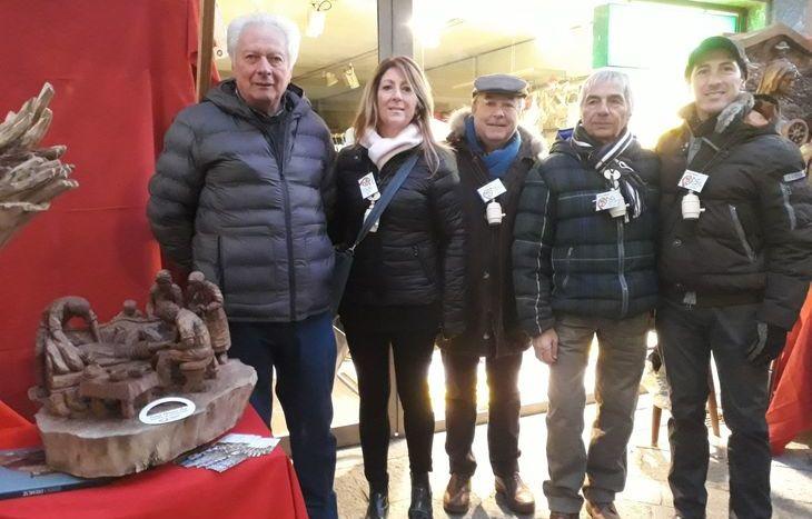 Guido Diemoz con Wally Orsi, Pierpaolo Civelli, Gianfranco Pala e Wanner Orsi