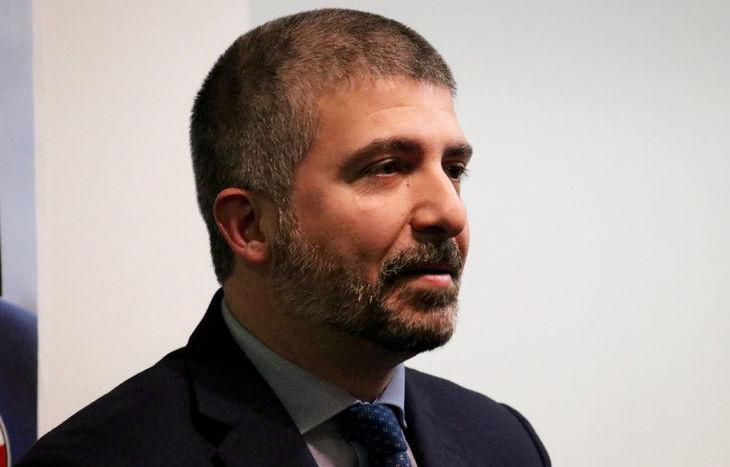 Simone Di Stefano, candidato premier per Casapound, ad Aosta