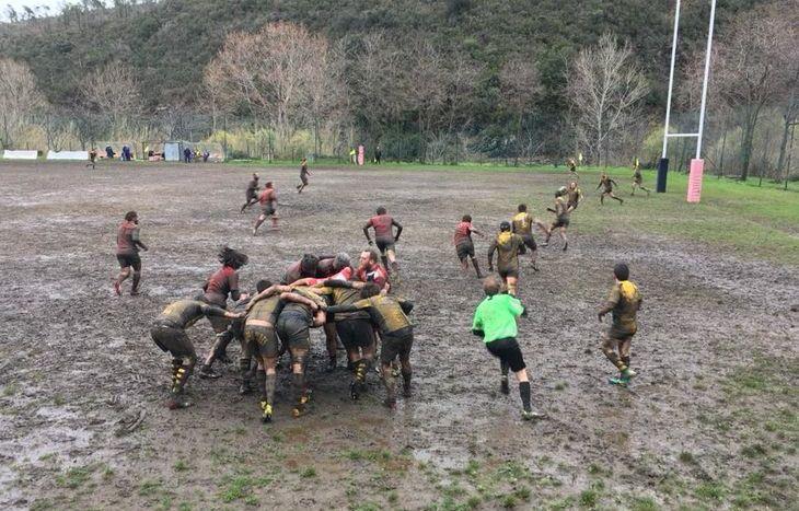 Lo Stada nel fango di Cogoleto - foto Fb Stade