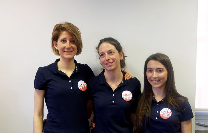 Infermiere di comunità: Maria Cugnetto, Solange Bonin e Valentina Vittone