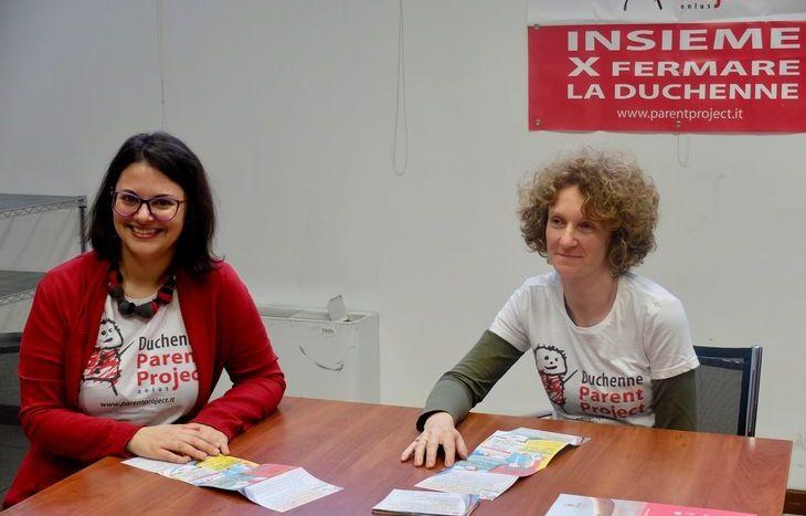 Da sx: Elena Poletti, responsabile comunicazione Parent Project e Manuela Monticone