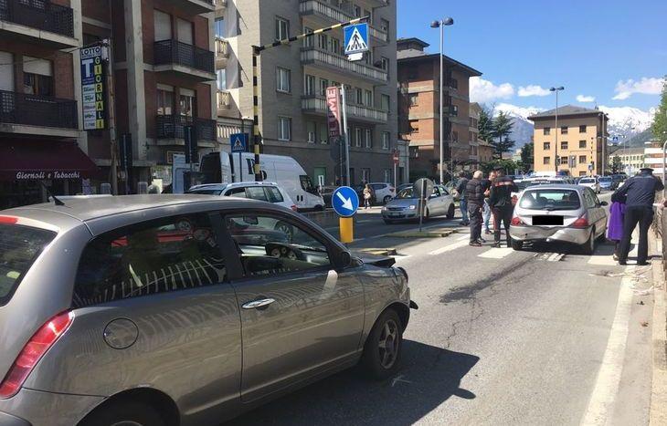 Tamponamento in Via Roma