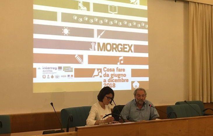Presentazione eventi Morgex - il sindaco Lorenzo Graziola e Giulia Radin