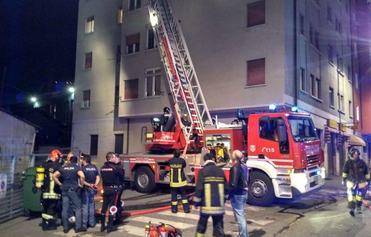 Incendio in Viale Partigiani