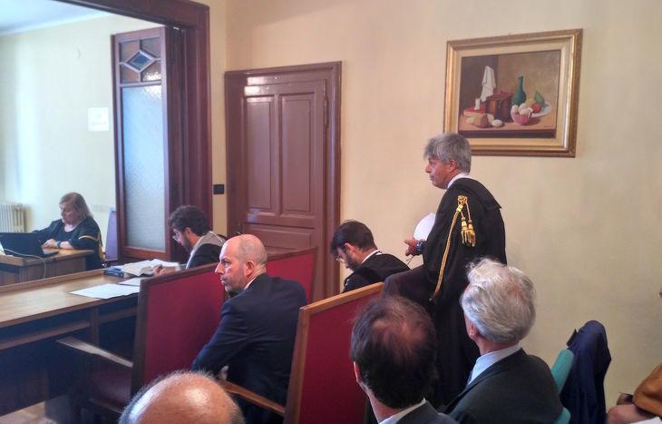 Un momento dell'udienza alla Corte dei Conti.