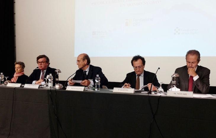 Camilla Beria di Argentine (direttore CNDPS), Pierluigi Biandrino, Presidente CNPDS,  Paolo Montalenti, Paolo Sestito e Mario Notari